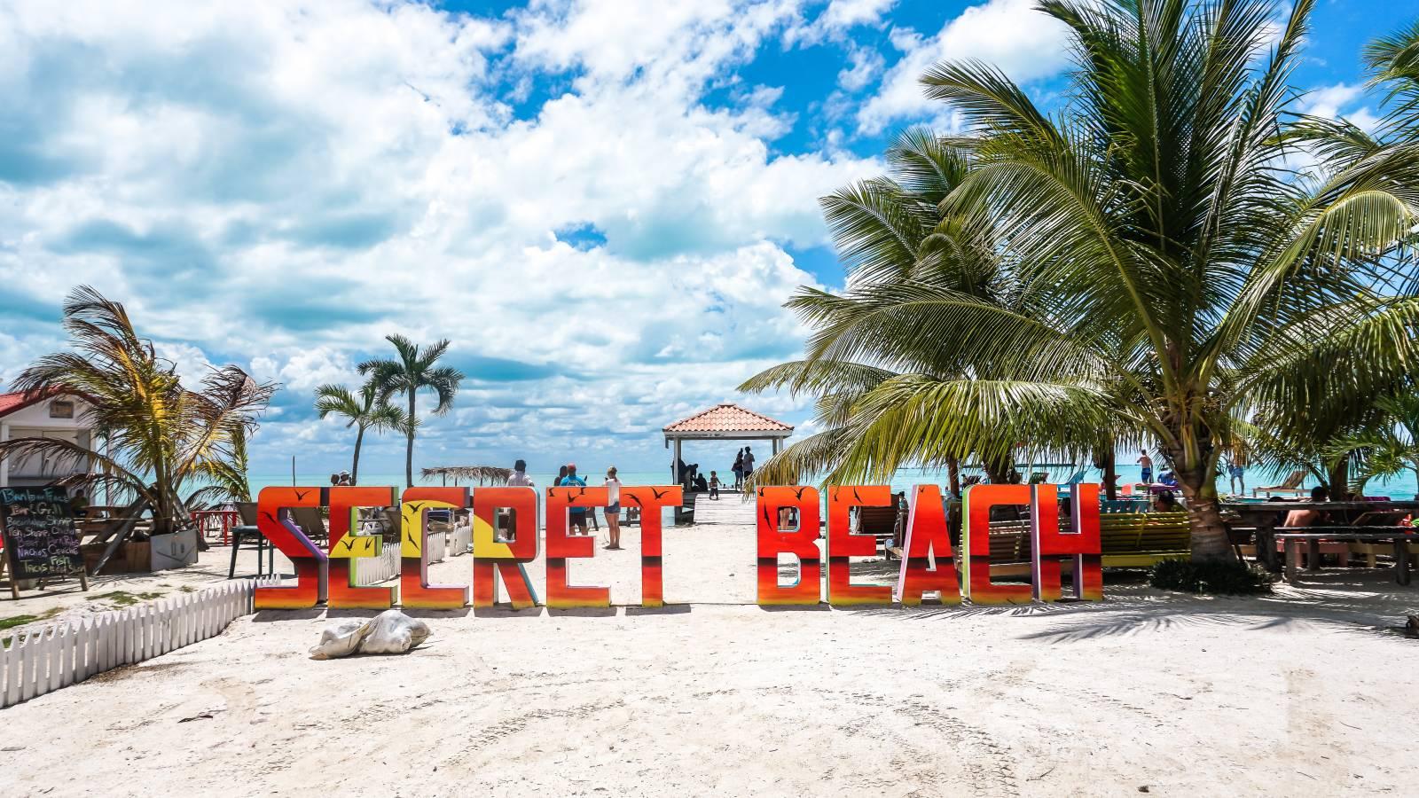 Secret Beach in Ambergris Caye, Belize
